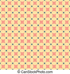 Seamless pattern with retro colors and shapes