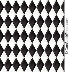 Seamless pattern with rhombus, diamond shapes. Vector.