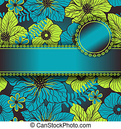 seamless pattern with ribbon and place for text