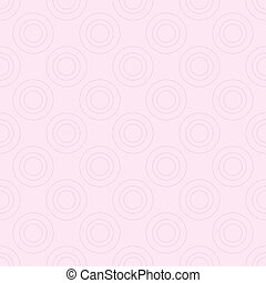 Seamless pattern with rings on pink