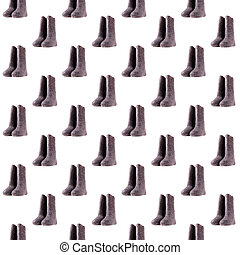 Seamless pattern with Russian felt boots