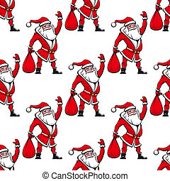 Seamless pattern with Santa Claus
