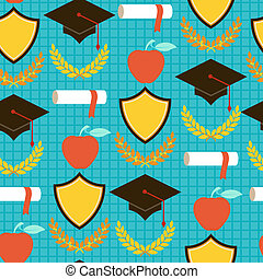 Seamless pattern with school icons.