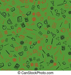 Seamless pattern with school things. Vector