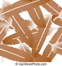 Seamless pattern with sepia feathers on the white background. vector illustration
