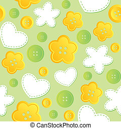 seamless pattern with sewing buttons - cute seamless pattern...