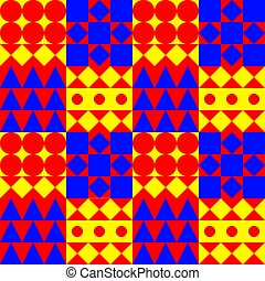 seamless pattern with shapes