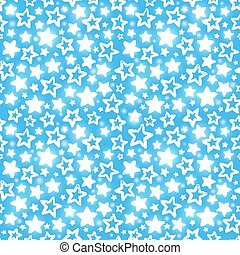 Seamless pattern with shining stars on blue background