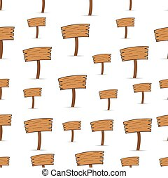 Seamless pattern with Signs of wood