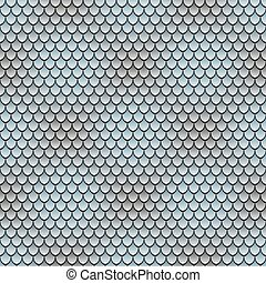 Seamless pattern with silvery scales