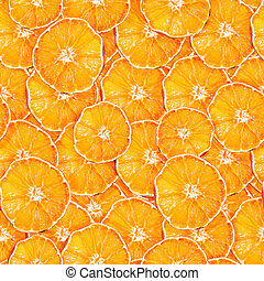 Seamless pattern with slices of dried orange