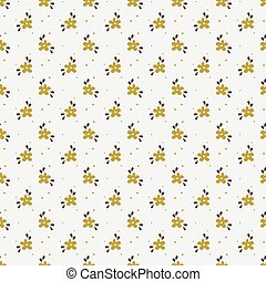 Seamless pattern with small hand drawn flowers.
