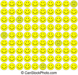 Seamless pattern with smileys background.