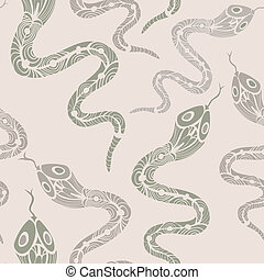 Seamless pattern with snakes - Seamless pattern with funny...