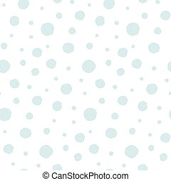 Seamless pattern with snow circles