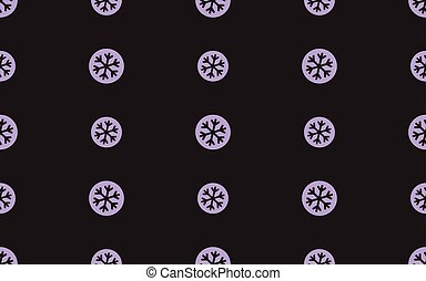 Seamless pattern with snowflake on a black background