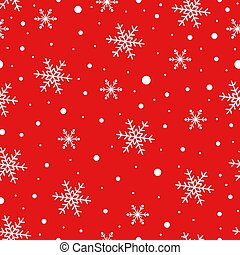 Seamless pattern with Snowflake