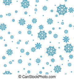 Seamless pattern with snowflakes and snow. Retro wallpaper decoration. Vector holiday ornament christmas illustration