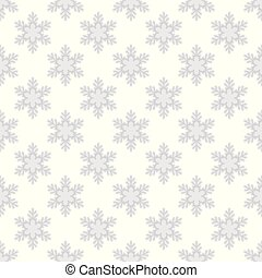 Seamless pattern with snowflakes on white background