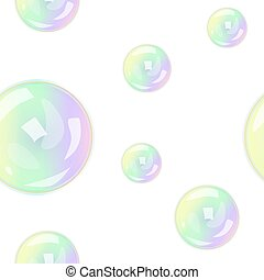 seamless pattern with soap bubbles