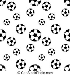 Seamless pattern with soccer balls. Vector background