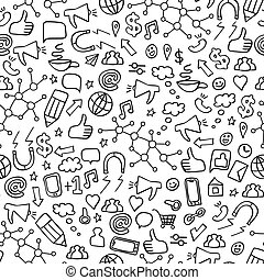 Seamless pattern with social media elements