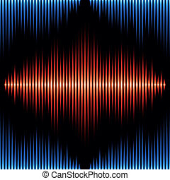 Seamless pattern with sound waveform