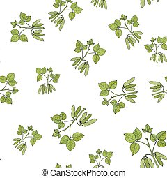 Seamless pattern with soybean