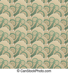Seamless pattern with spiral elements