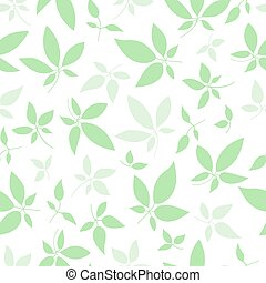 Seamless pattern with sprigs of plants. Leaves in chaotic order for cover design, wallpaper, packaging - Vector