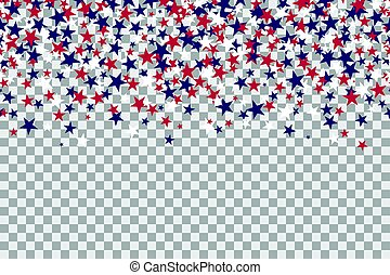 Seamless pattern with stars for Memorial Day celebration on ...