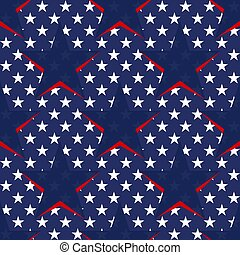 Seamless pattern with stars in the American flag theme. Stock vector.