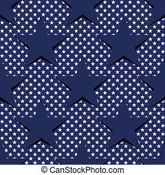 Seamless pattern with stars in the American flag theme. Stock vector. eps10