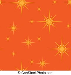 seamless pattern with stars on a orange background