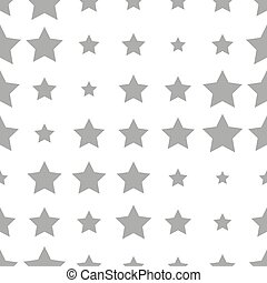 Seamless pattern with stars on a white background.