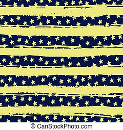 Seamless pattern with stars on background