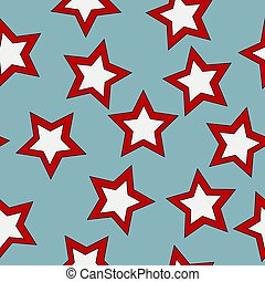 Seamless pattern with stars on blue background