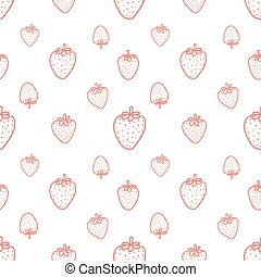 Seamless pattern with strawberry background. Vector illustrations for gift wrap design.