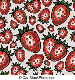 Seamless pattern with strawberry, vector illustration