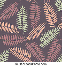 Seamless pattern with stylized fern leaves