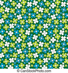 Seamless pattern with stylized flowers, floral background