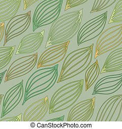 Seamless pattern with stylized leaves