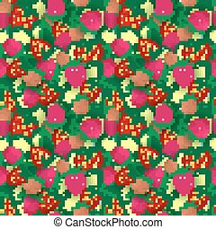seamless pattern with summer berries, vector illustration
