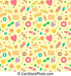 Seamless pattern with sweets