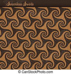 Seamless pattern with swirls, grunge background