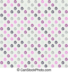 Seamless pattern with swirls on white background