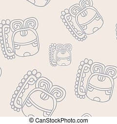 pattern with symbol of the Maya