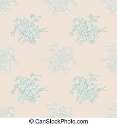 Seamless pattern with symbols