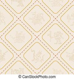 Seamless pattern with symbols