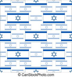 seamless pattern with symbols of the Israeli flag
